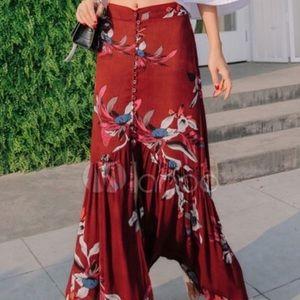 Boho mermaid skirt-floral